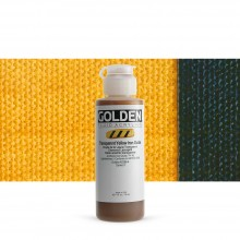 Golden : Fluid : Acrylic Paint : 119ml (4oz) : Transparent Yellow Iron Oxide