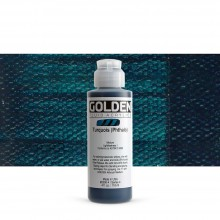 Golden : Fluid : Acrylic Paint : 119ml (4oz) : Turquoise (Phthalo)