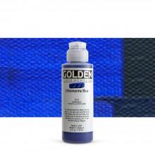 Golden : Fluid : Acrylic Paint : 119ml (4oz) : Ultramarine Blue