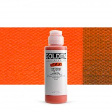 Golden : Fluid : Acrylic Paint : 119ml (4oz) : Vat Orange