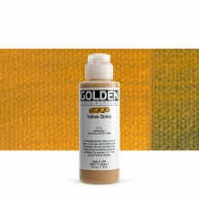 Golden : Fluid : Acrylic Paint : 119ml (4oz) : Yellow Ochre