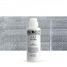 Golden : Fluid Acrylic Paint : 119ml (4oz) : Zinc White