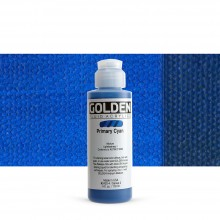 Golden : Fluid : Acrylic Paint : 119ml (4oz) : Primary Cyan