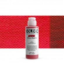 Golden : Fluid Acrylic Paint : 119ml (4oz) : Primary Magenta