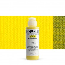 Golden : Fluid : Acrylic Paint : 119ml (4oz) : Primary Yellow