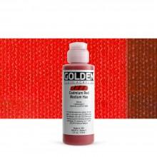 Golden : Fluid : Acrylic Paint : 119ml (4oz) : Cadmium Red Medium Hue