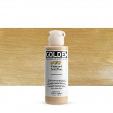 Golden : Fluid : Acrylic Paint : 119ml (4oz) : Gold Fine Iridescent