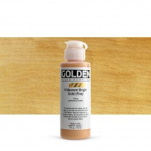 Golden : Fluid Acrylic Paint : 119ml (4oz) : Bright Gold Fine Iridescent