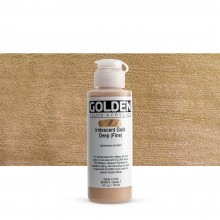 Golden : Fluid : Acrylic Paint : 119ml (4oz) : Gold Deep Fine Iridescent
