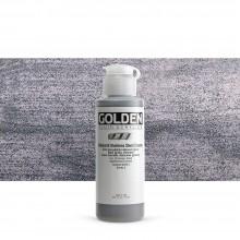 Golden : Fluid Acrylic Paint : 119ml (4oz) : Stainless Steel Coarse Iridescent
