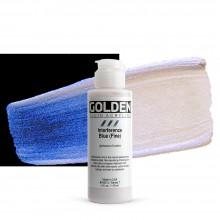 Golden : Fluid : Acrylic Paint : 119ml (4oz) : Blue Fine Interference
