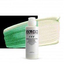 Golden : Fluid : Acrylic Paint : 119ml (4oz) : Green Fine Interference