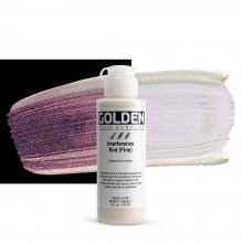 Golden : Fluid : Acrylic Paint : 119ml (4oz) : Red Fine Interference