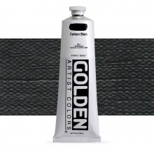Golden : Heavy Body : Acrylic Paint : 150ml : Carbon Black