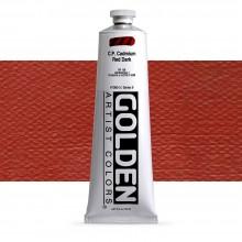Golden : Heavy Body : Acrylic Paint : 150ml : Pure Cadmium Red Dark