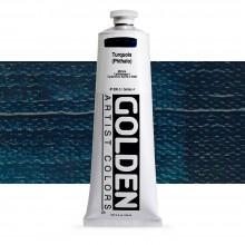 Golden : Heavy Body : Acrylic Paint : 150ml : Turquoise (Phthalo)