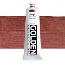 Golden : Heavy Body Acrylic Paint : 150ml : Copper Fine Iridescent