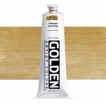 Golden : Heavy Body : Acrylic Paint : 150ml : Gold Fine Iridescent