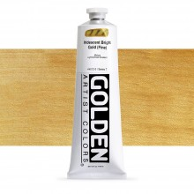 Golden : Heavy Body : Acrylic Paint : 150ml : Bright Gold Fine Iridescent