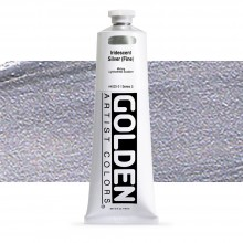 Golden : Heavy Body Acrylic Paint : 150ml : Silver Fine Iridescent