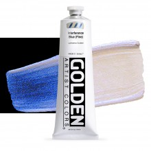 Golden : Heavy Body : Acrylic Paint : 150ml : Blue Fine Interference