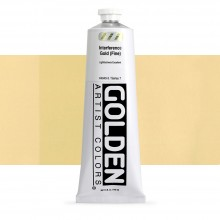 Golden : Heavy Body : Acrylic Paint : 150ml : Gold Fine Interference
