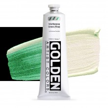 Golden : Heavy Body Acrylic Paint : 150ml : Green Fine Interference