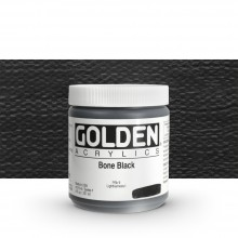 Golden : Heavy Body Acrylic Paint : 236ml : Bone Black