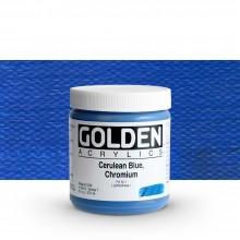 Golden : Heavy Body : Acrylic Paint : 236ml : Cerulean Blue Chromium