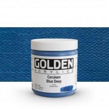Golden : Heavy Body : Acrylic Paint : 236ml : Cerulean Blue Deep