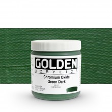 Golden : Heavy Body Acrylic Paint : 236ml Chrome Oxide Green Dark Iii New
