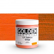 Golden : Heavy Body Acrylic Paint : 236ml : Pure Cadmium Orange