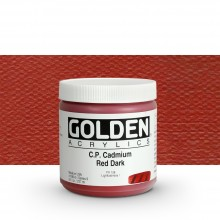 Golden : Heavy Body Acrylic Paint : 236ml : Pure Cadmium Red Dark