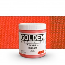 Golden : Heavy Body : Acrylic Paint : 236ml : Pure Cadmium Red Light