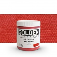 Golden : Heavy Body Acrylic Paint : 236ml : Pure Cadmium Red Medium