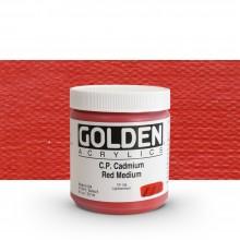Golden : Heavy Body : Acrylic Paint : 236ml : Pure Cadmium Red Medium