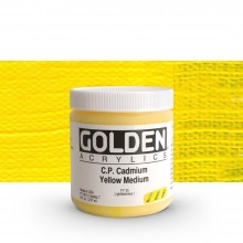 Golden : Heavy Body : Acrylic Paint : 236ml : Pure Cadmium Yellow Medium