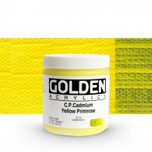 Golden : Heavy Body : Acrylic Paint : 236ml : Pure Cadmium Yellow Primrose