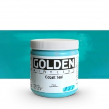 Golden : Heavy Body : Acrylic Paint : 236ml : Cobalt Teal