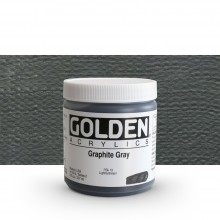 Golden : Heavy Body Acrylic Paint : 236ml : Graphite Grey