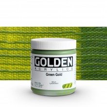 Golden : Heavy Body Acrylic Paint : 236ml : Green Gold
