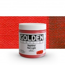 Golden : Heavy Body Acrylic Paint : 236ml : Naphthol Red Light