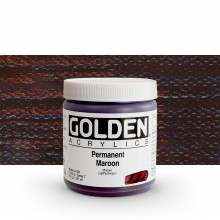 Golden : Heavy Body : Acrylic Paint : 236ml Permanent Maroon VII New