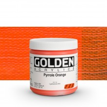 Golden : Heavy Body Acrylic Paint : 236ml : Pyrrole Orange