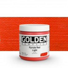 Golden : Heavy Body Acrylic Paint : 236ml : Pyrrole Red Light