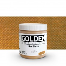 Golden : Heavy Body : Acrylic Paint : 236ml : Raw Sienna