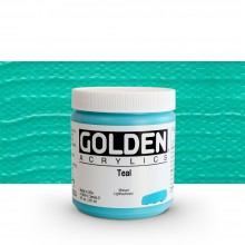 Golden : Heavy Body Acrylic Paint : 236ml : Teal Iii