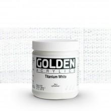 Golden : Heavy Body : Acrylic Paint : 236ml : Titanium White