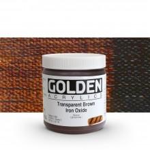Golden : Heavy Body : Acrylic Paint : 236ml Trans Brown Iron Oxide III New