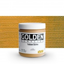 Golden : Heavy Body : Acrylic Paint : 236ml : Yellow Ochre